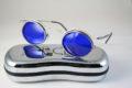 oval sunglasses cobalt blue lens