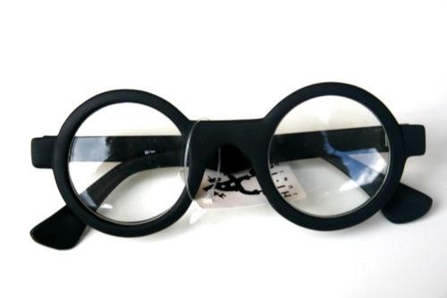 Hi Tek round silver metal sunglasses with black lenses HT ...