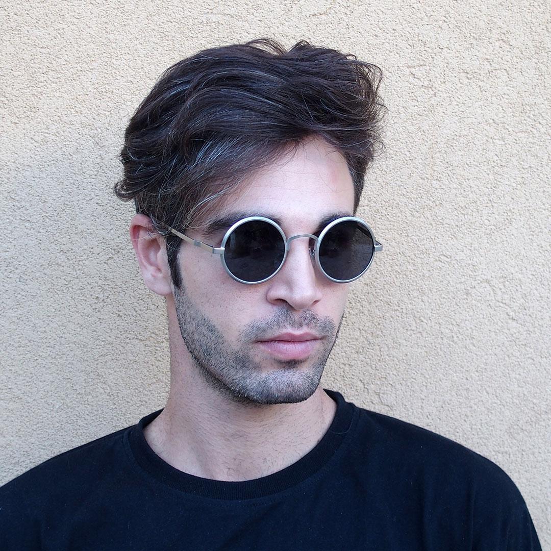 John Lennon Type Eyeglass Frames : round sunglasses John Lennon style silver gold polarized ...