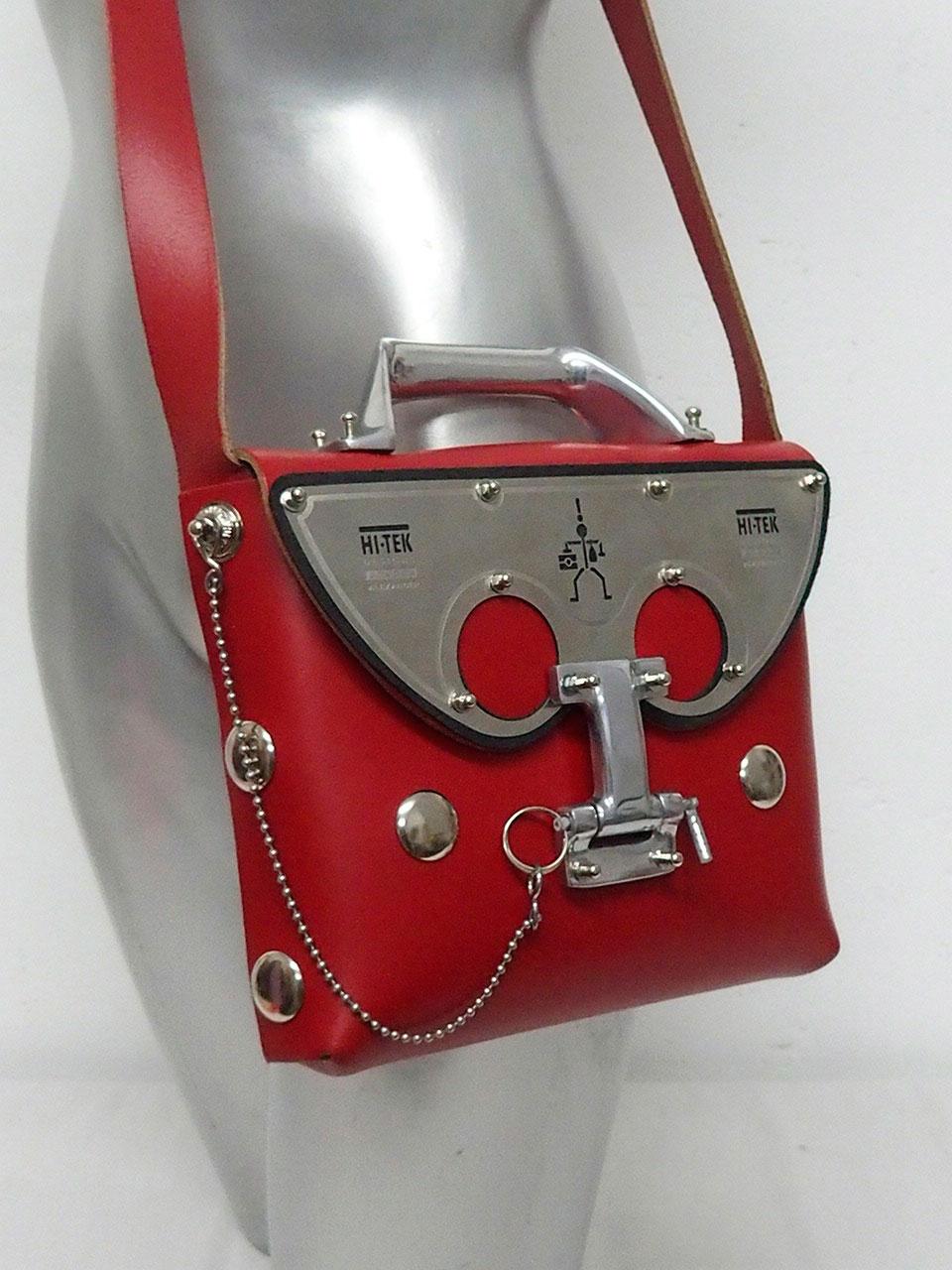 red leather shoulder bag
