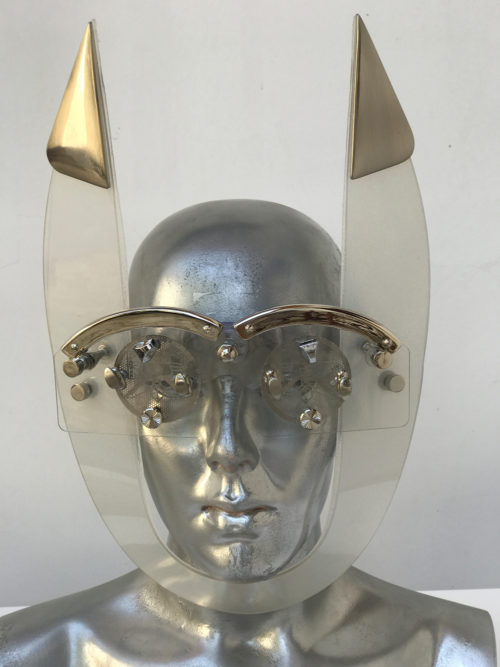 clear mask with horns