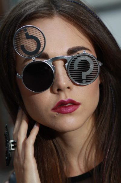 round flip up sunglasses Steampunk styling party  Hi Tek