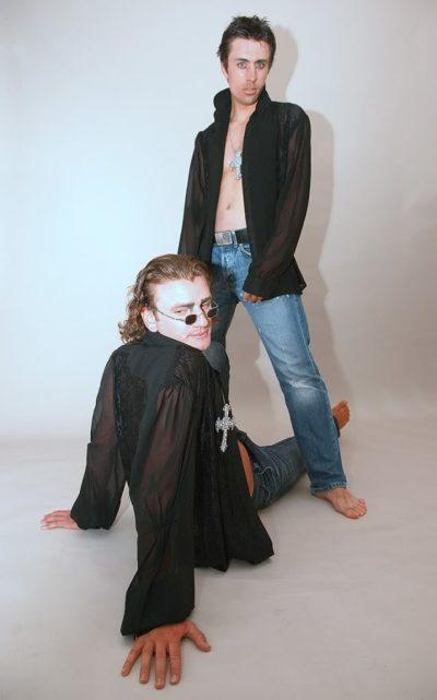 mens black dress shirt in lace and silk Georgette Hi Tek