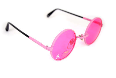 round pink sunglasses pink metal sunglasses vintage Hi Tek Alexander HJL9