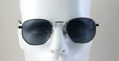 silver aviator sunglasses for men Hi Tek model 3888