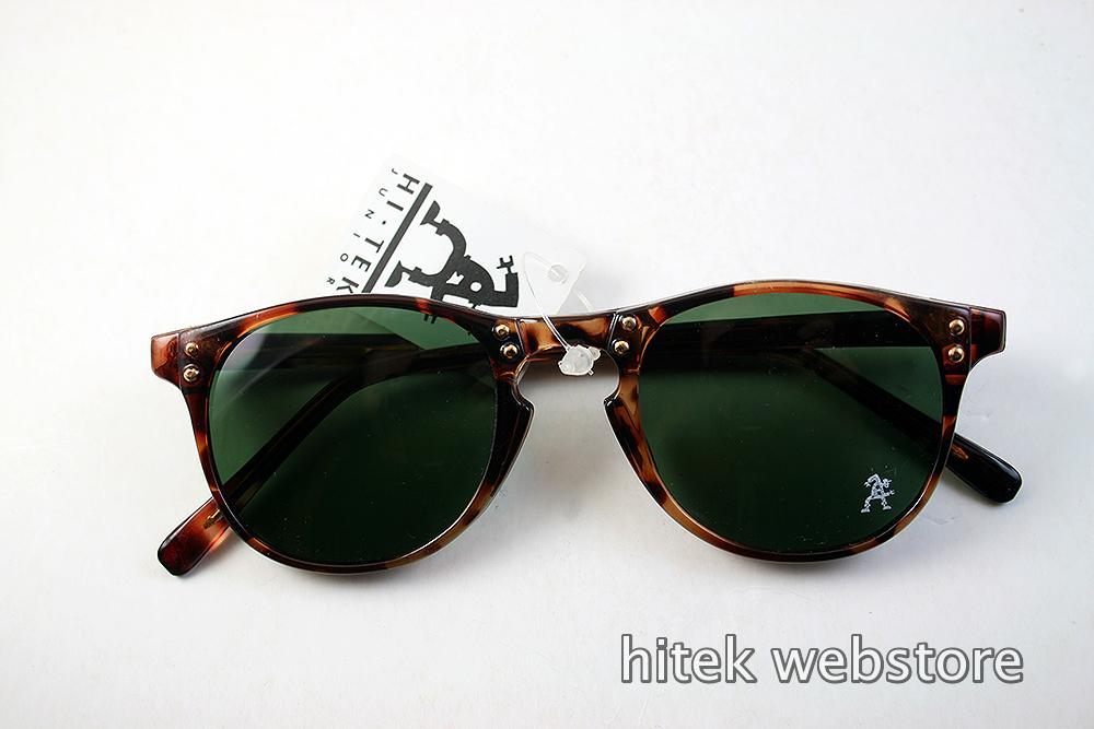 retro tortoise hipster sunglasses green lens Hi Tek