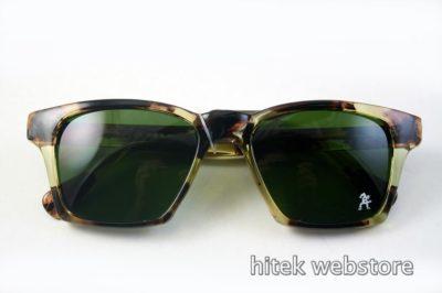 Vintage rectangular tortoise sunglasses 1980s HI TEK HT-9296