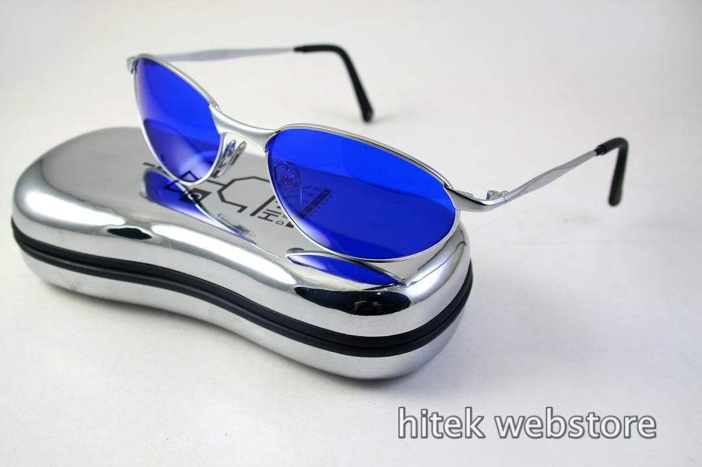 aviator goggle sunglasses for men blue lens Hi Tek model-2525