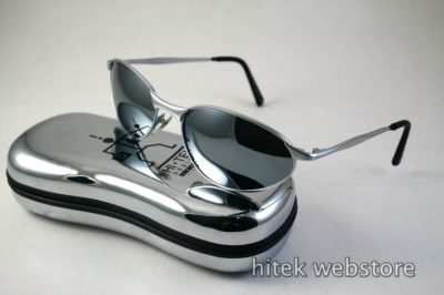 mens sunglasses shades silver metal frame mirror lens aviator Hi Tek model-2525