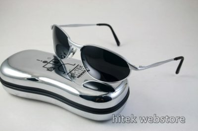 mens sunglasses shades silver metal frame aviator Hi Tek model-2525