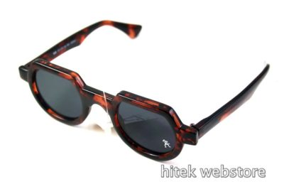 Hi Tek round sunglasses tortoiseshell brown HT-010 unusual