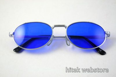 oval sunglasses mens shades silver metal frame  Hi Tek model-SJ2220 lens options