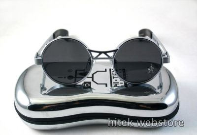 Hi Tek vintage small round metal sunglasses HT-4006