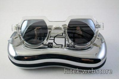Hi Tek clear round sunglasses  mirror lens HT-010