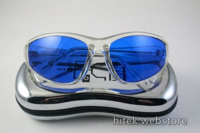 clear goggles sunglasses blue lens Hi Tek