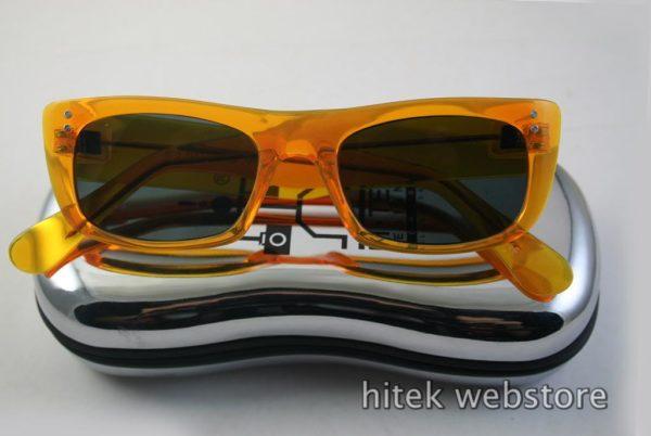 HI TEK oblong neon orange sunglasses polarized lens