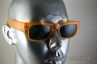 HI TEK oblong neon orange sunglasses polarized lens