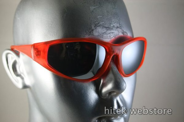 neon red goggles sunglasses mirror lens Hi Tek