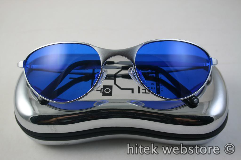 aviator goggle sunglasses for men blue lens Hi Tek model-2626