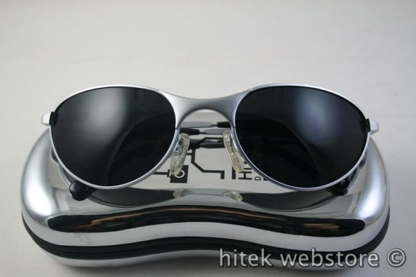 mens sunglasses shades silver metal frame aviator Hi Tek model-2626