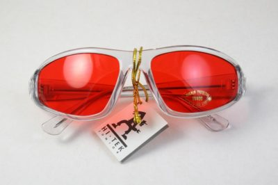 red lens goggle sunglasses