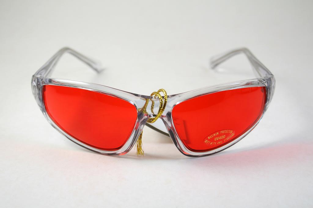 clear goggles sunglasses red lens Hi Tek