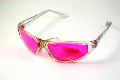 pink lens goggle sunglasses