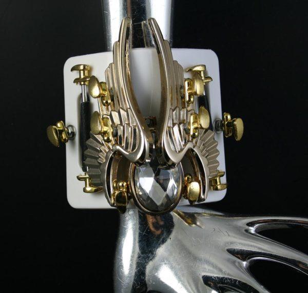 unusual wearable art 3D handmade Steampunk jewelry cuff bracelet  Hi Tek HTCUB016