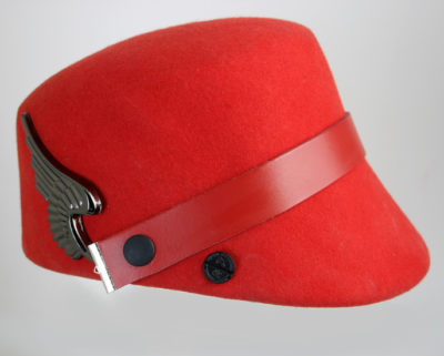 red wool felt hat Hi Tek stylish unusual unique