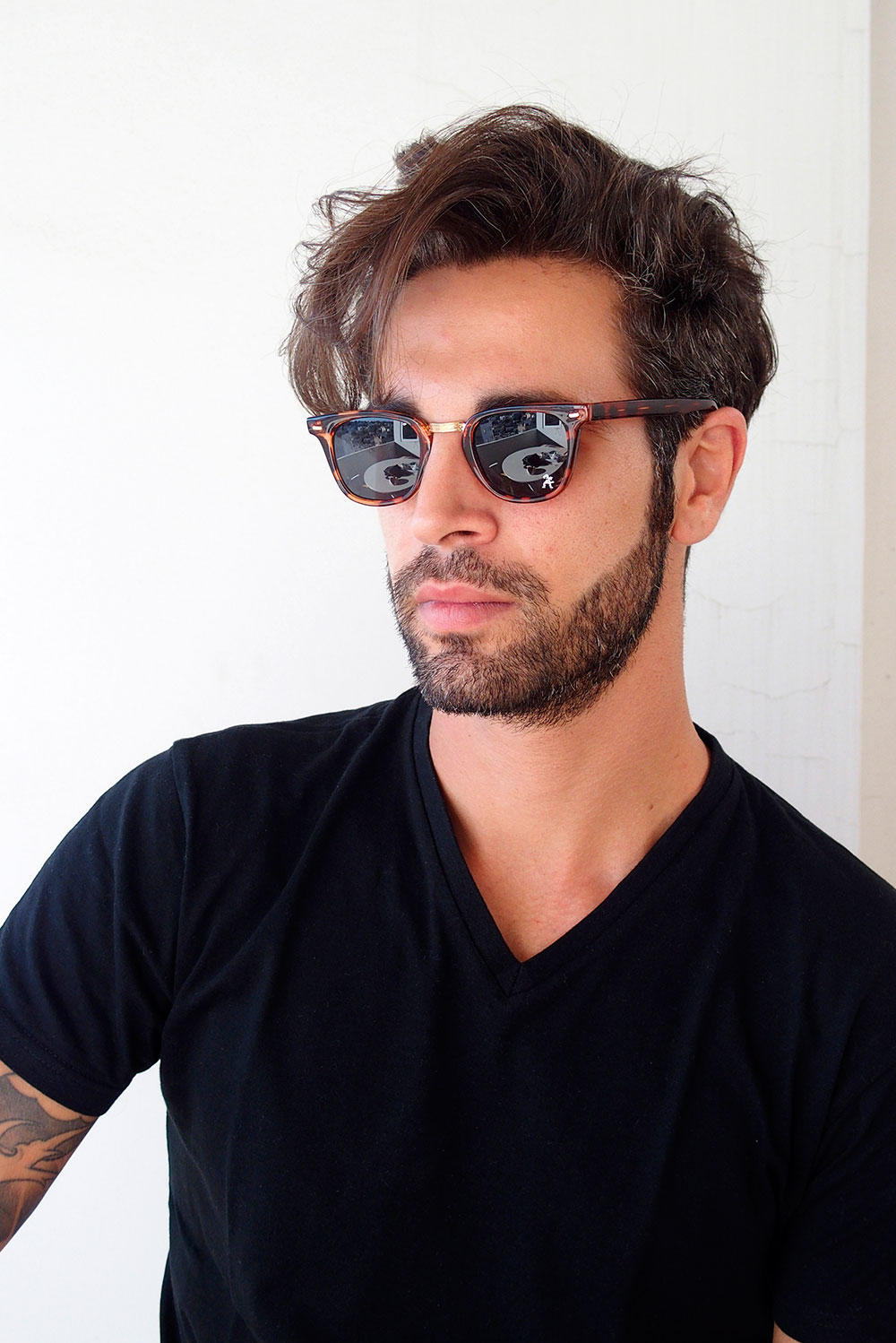 mens square tortoise sunglasses
