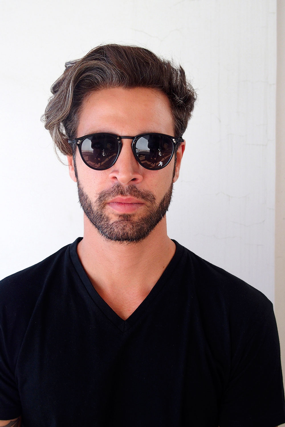 black retro sunglasses for men