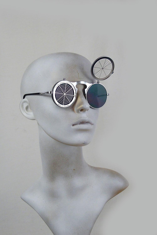 flip up cobweb sunglasses