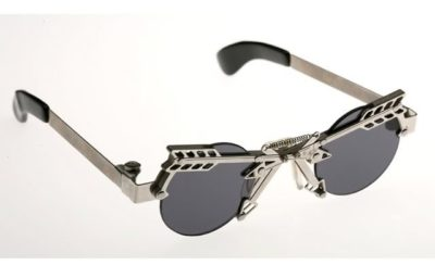 silver arrows sunglasses round lens Hi Tek cult-arrows