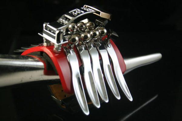 handmade Steampunk jewelry cuff bracelet  Hi Tek CATERPILLAR1