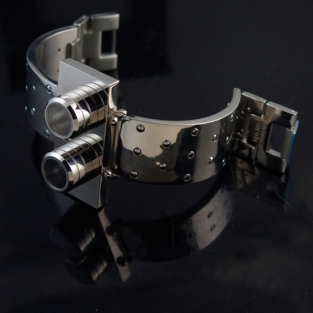 wrist watch Futuristic Goth Steampunk Cyberpunk vintage Hi Tek Alexander