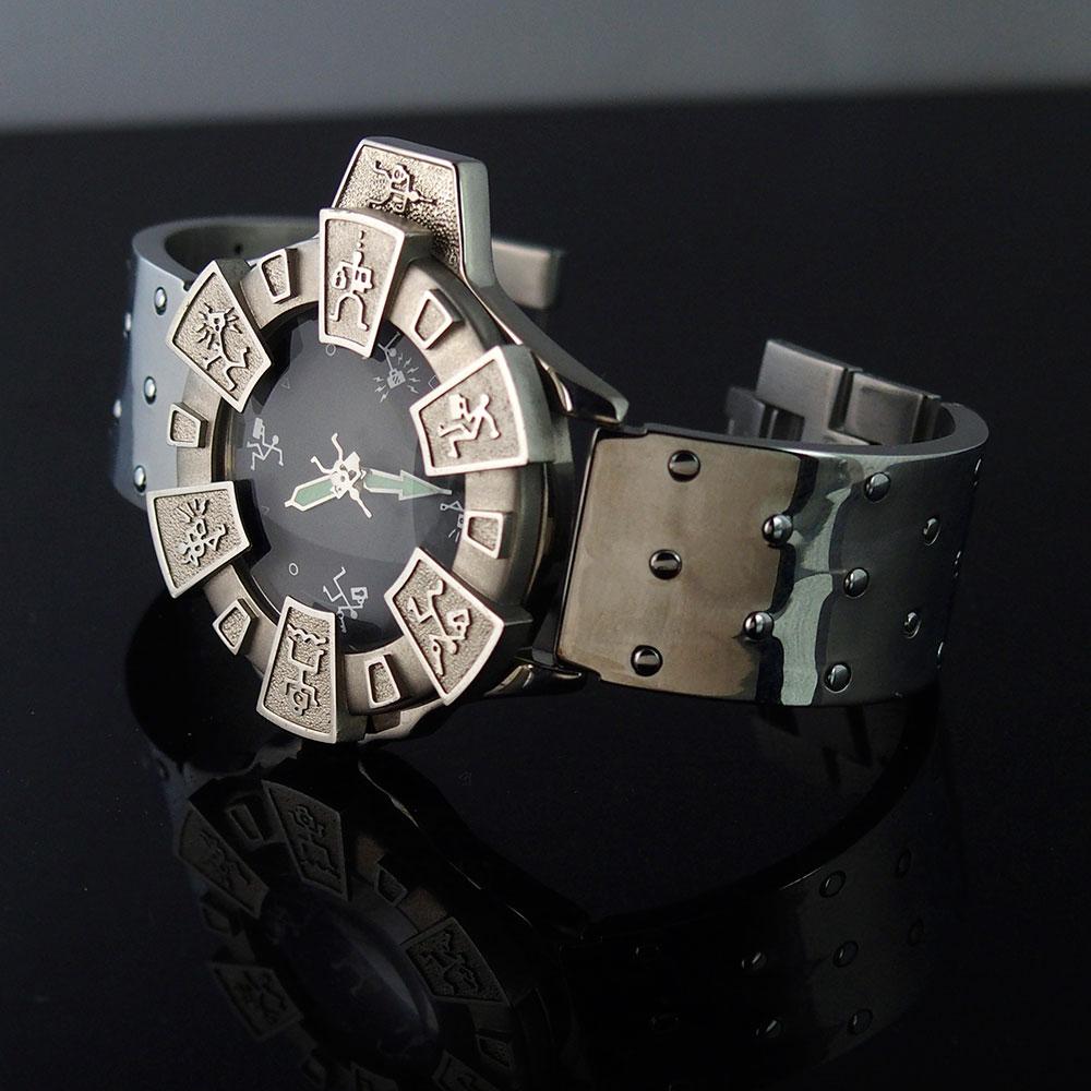 vintage unisex wrist watch futuristic Sci Fi Cyber Goth Cyber Punk style unusual
