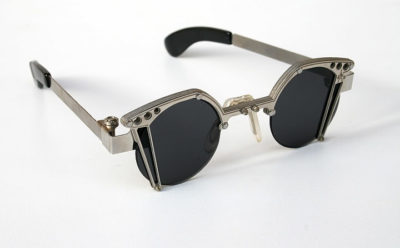 round Goth Steampunk stainless steel sunglasses unusual unique Hi Tek