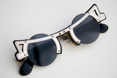 Hi Tek round silver metal sunglasses cult-16 unusual unique