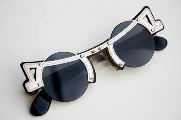 Hi Tek round silver metal sunglasses cult-16 unusual unique | Hi Tek ...
