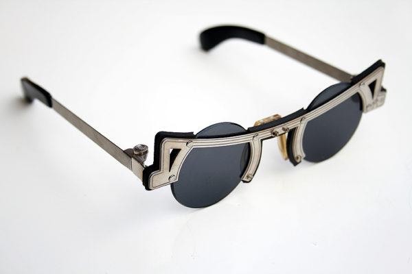 Hi Tek round silver metal sunglasses cult-16 unusual unique
