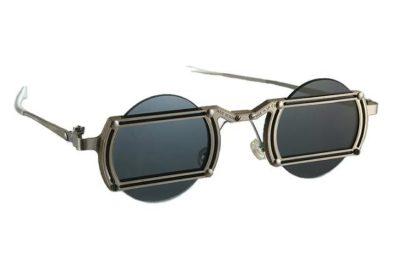 round Goth Steampunk sunglasses, handmade, stainless steel frames