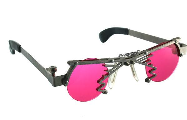 round Goth Steampunk stainless steel sunglasses unusual unique Hi Tek