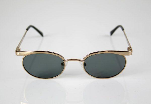 mens oval sunglasses retro Steampunk style gold frames