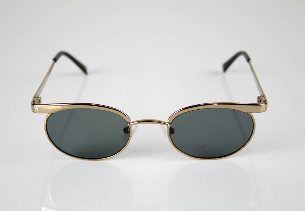 mens oval sunglasses retro Steampunk style gold frames | Hi Tek Webstore