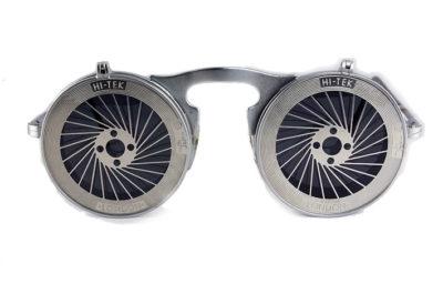 Hi Tek unisex round metal flip up sunglasses model HT-006-SPIKY
