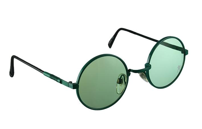 vintage round metal sunglasses green HJL9 Hi Tek