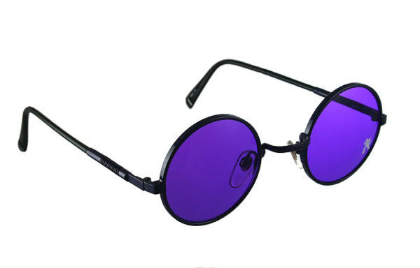 round purple sunglasses Hi Tek  HJL9