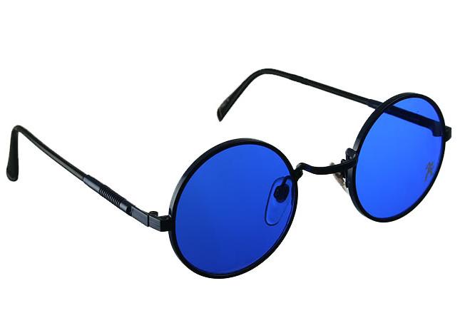 Hi Tek round metal sunglasses blue HJL9