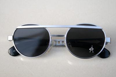 Hi Tek vintage round silver metal sunglasses  HT-4005