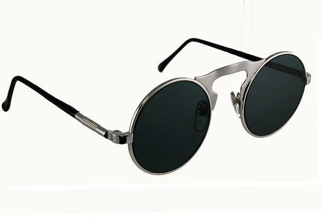 2864c8c62a6 round metal sunglasses with flat lens gold silver